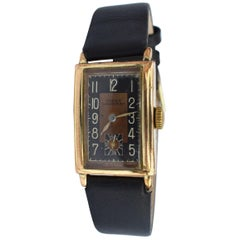 Art Deco Gents Gold-Plated Wristwatch by Dorex, Swiss, circa 1930