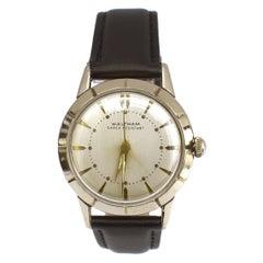 Art Deco Gents Waltham 10k Gold Plated Wrist Watch, Newly Serviced, c1940's