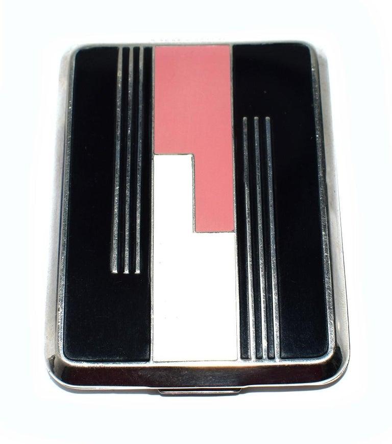Art Deco Geometric Ladies Powder Compact Du Barry For Sale 4