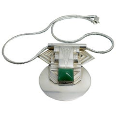 Art Deco Geometric Modernist Ladies Necklace, circa 1930s