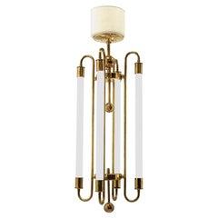 Art Deco German Brass Chandelier by Kaiser & Co.