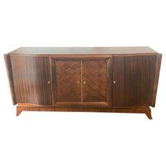 Art Deco German Inlaid Sideboard Buffet