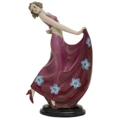 Art Deco German Porcelain Figure by Fasold & Stauch, circa 1930