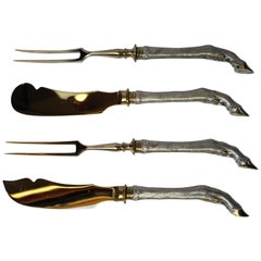 Art Deco German Set of Four Silver Serving Cutlery Style Black Forest