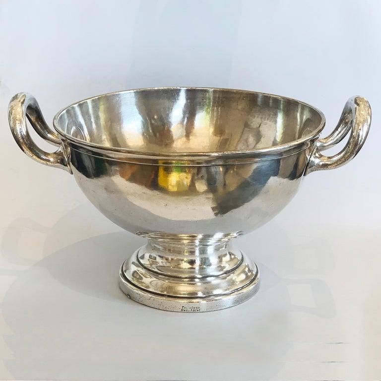Art Deco German Silver Plate Champagne Bucket Rafraichissoir In Good Condition For Sale In Daylesford, Victoria