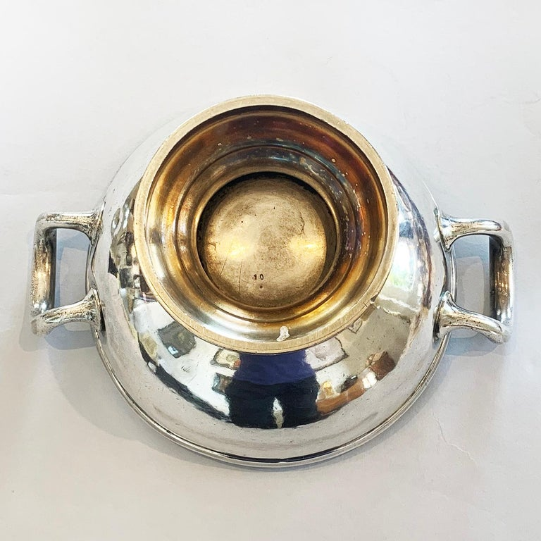 Early 20th Century Art Deco German Silver Plate Champagne Bucket Rafraichissoir For Sale