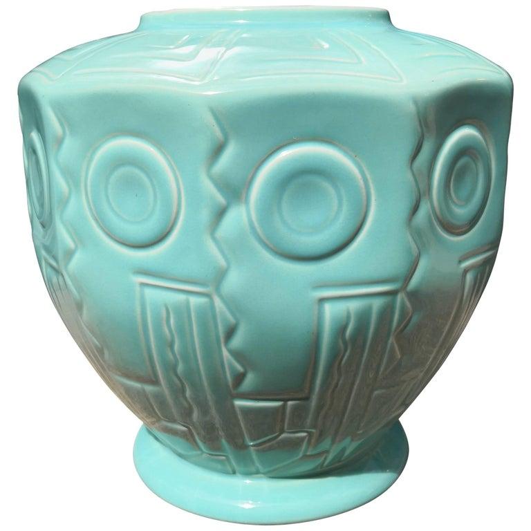 Art Deco German Villeroy And Boch Majolica Vase In