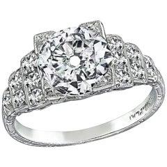 Art-Deco GIA zertifizierten 1,20 Karat Diamant-Verlobungsring