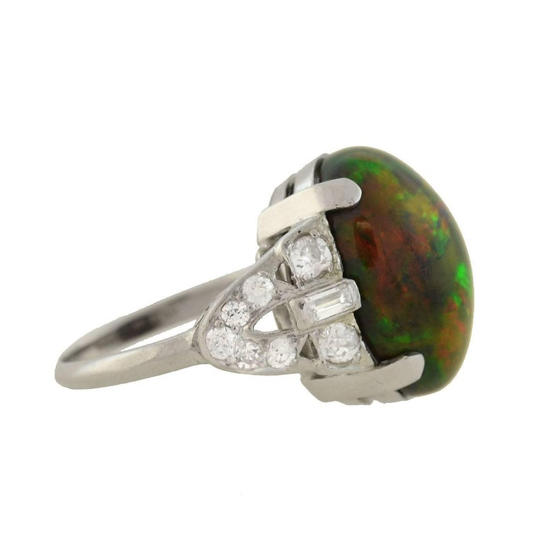 Black opals are among the most rare and valuable of all natural opal varieties. Unlike their common opal counterparts, they have a dark canvas and radiate brilliant flashes of colors due to their subtle iron oxide and carbon properties. Although a