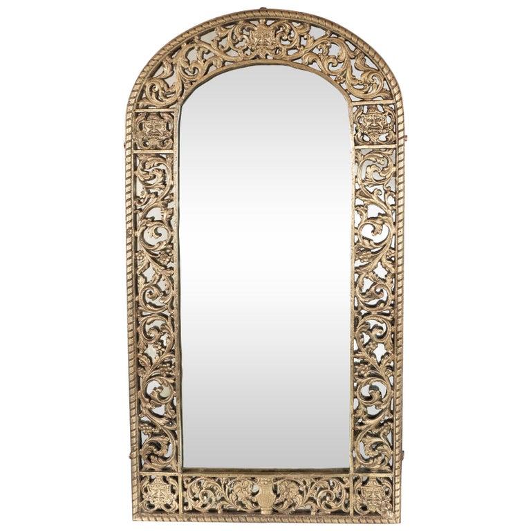 Art Deco Gilded Bronze Arabesque Arch Form Mirror In The