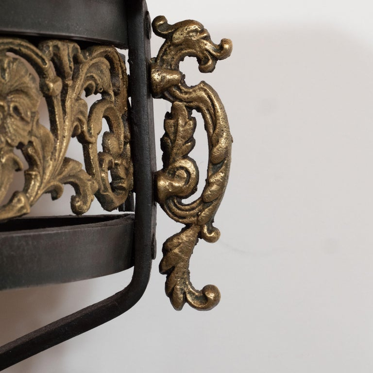 Art Deco Gilded Bronze and Carrara Marble Console Table with Baroque Detailing For Sale 1