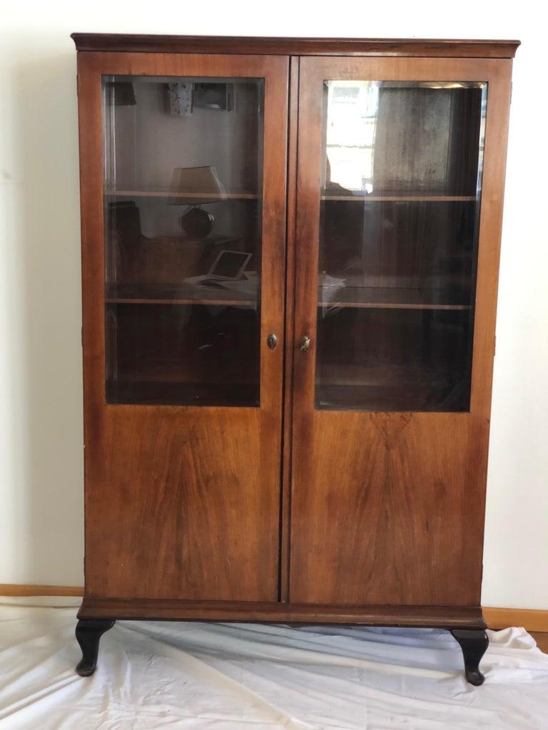 Austrian Art Deco Glass Cabinet, Vitrine For Sale
