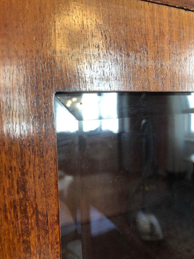 Art Deco Glass Cabinet, Vitrine In Fair Condition For Sale In Vienna, AT
