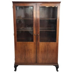 Art Deco Glass Cabinet, Vitrine
