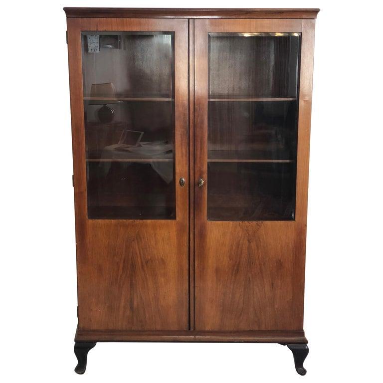 Art Deco Glass Cabinet, Vitrine For Sale