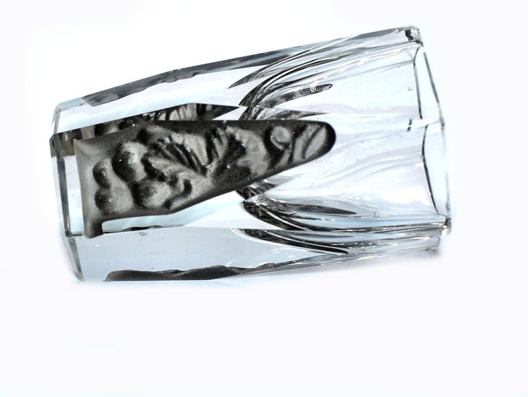 Art Deco Glass Decanter Set by Schlevogt & Hoffman, circa 1930 For Sale 2