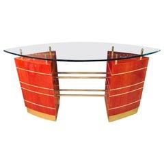 Art Deco Glass Desk or Reception Table