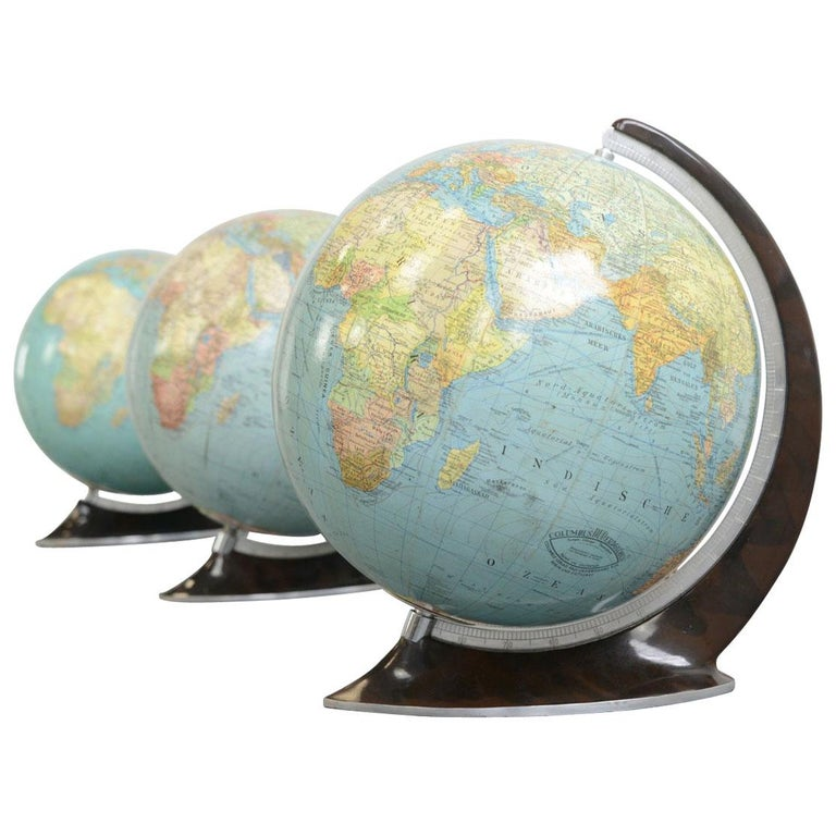 Globes For Sale >> Art Deco Glass Globes Circa 1930s