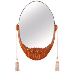Art Deco Glass Mirror Attributed to Maurice Dufrêne