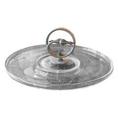 Art Deco Glass Serving Platter Dish