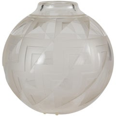 Art Deco Glass Vase by Andre Delatte