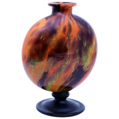 Art Deco Glass Vase by Charles Schneider