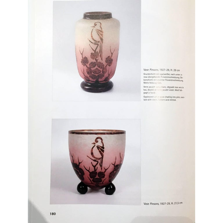 Art Deco Glass Vase By Le Verre Francais Charles Schneider At 1stdibs