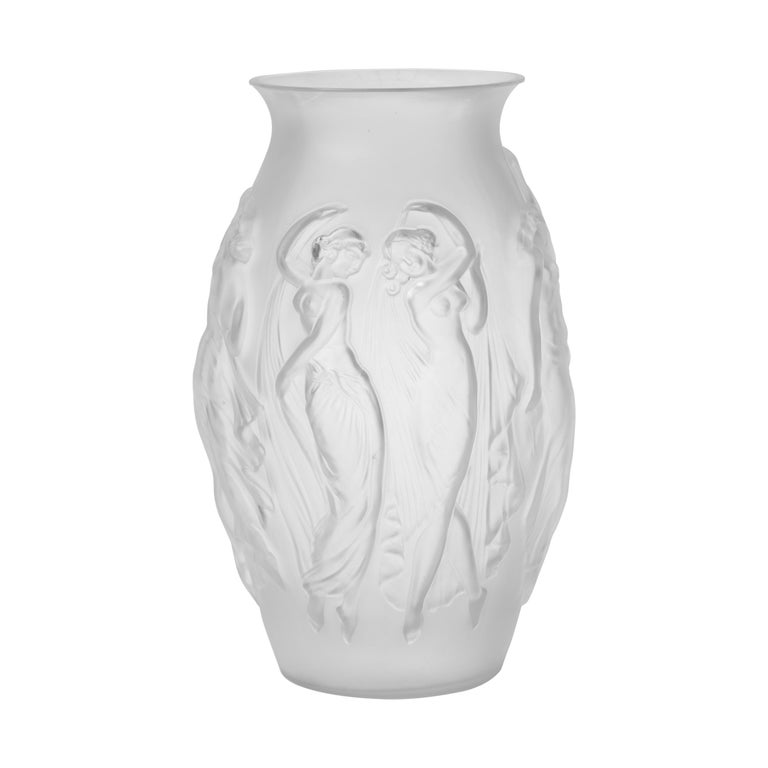 Art Deco Glass Vase by Sabino For Sale