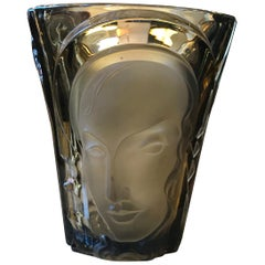 Art Deco Glass Vase by Walther & Sohne