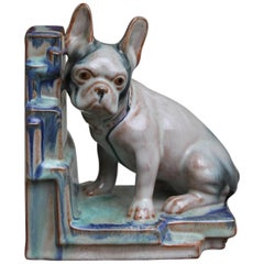 Art Deco Glazed Bulldog Figurine, Bookend