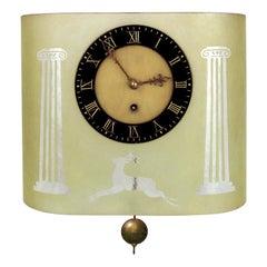 Art Deco Glössner Etched Glass Pendulum