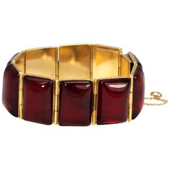 Art Deco Gold Cherry Amber Bracelet