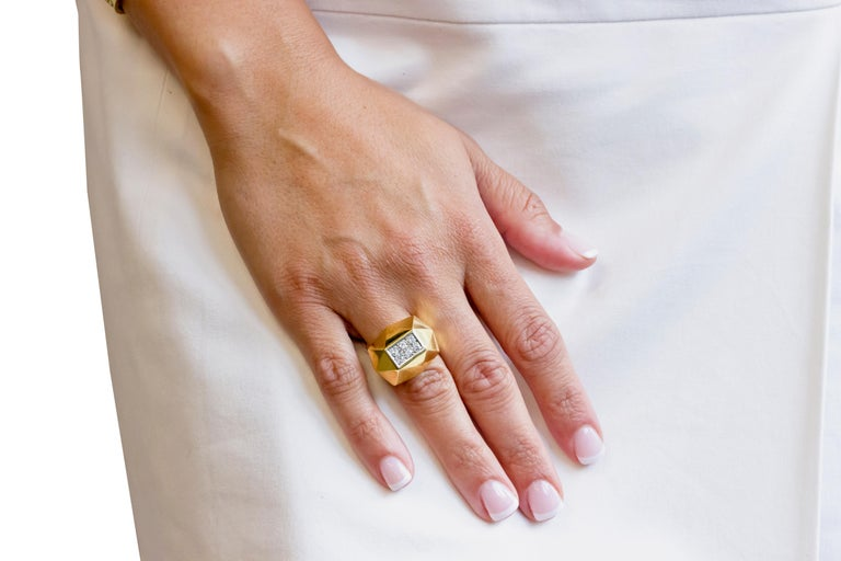Art Deco Style Gold Diamond Ring For Sale 1