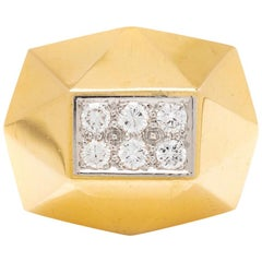 Art Deco Gold Diamond Ring