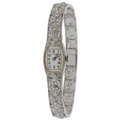 Art Deco Gold Diamond Watch Bracelet