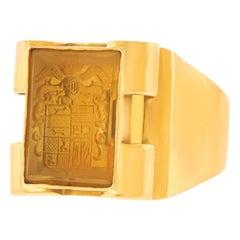 Art Deco Gold Signet Ring