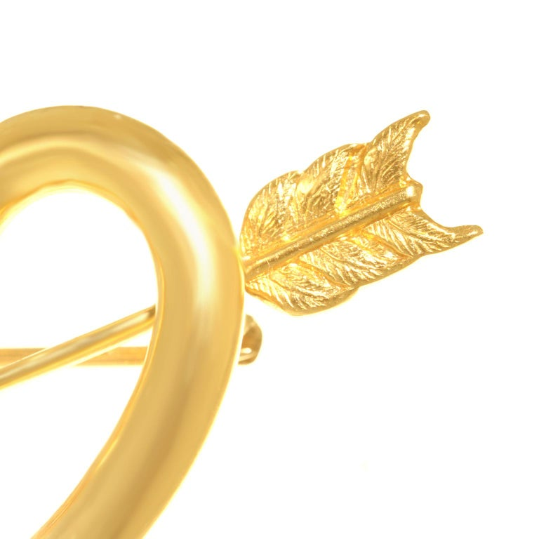 Art Deco Gold Sweet Heart Pin For Sale 4