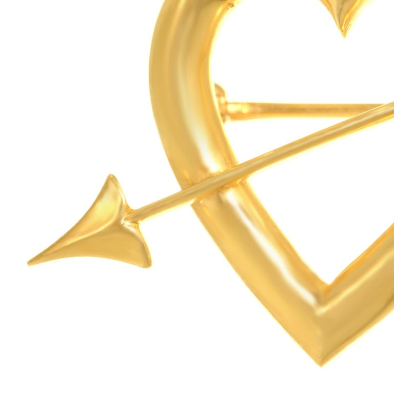 Art Deco Gold Sweet Heart Pin For Sale 5