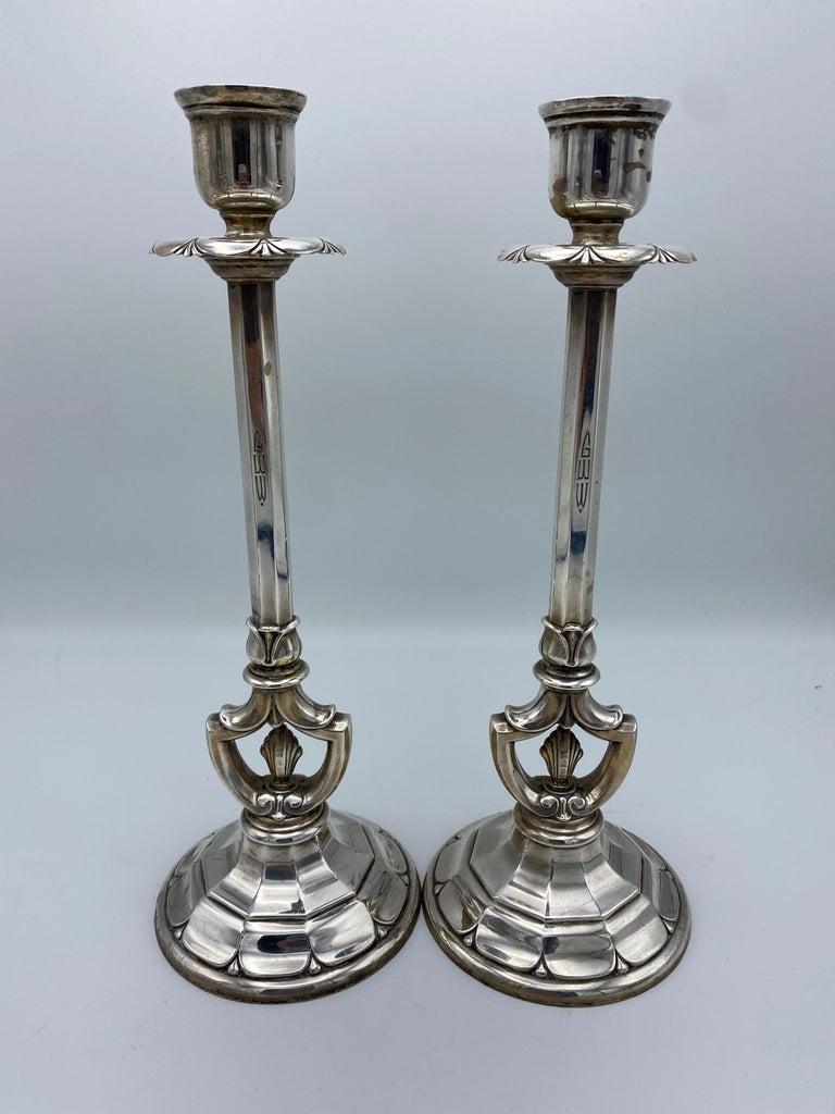 Art Deco Gorham Sterling Silver Candlesticks, Set of 4 For Sale 6
