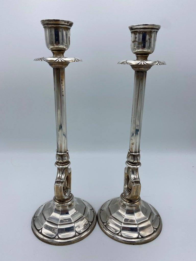 Art Deco Gorham Sterling Silver Candlesticks, Set of 4 For Sale 7