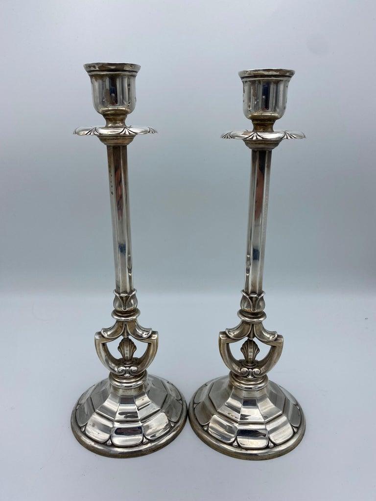 Art Deco Gorham Sterling Silver Candlesticks, Set of 4 For Sale 9