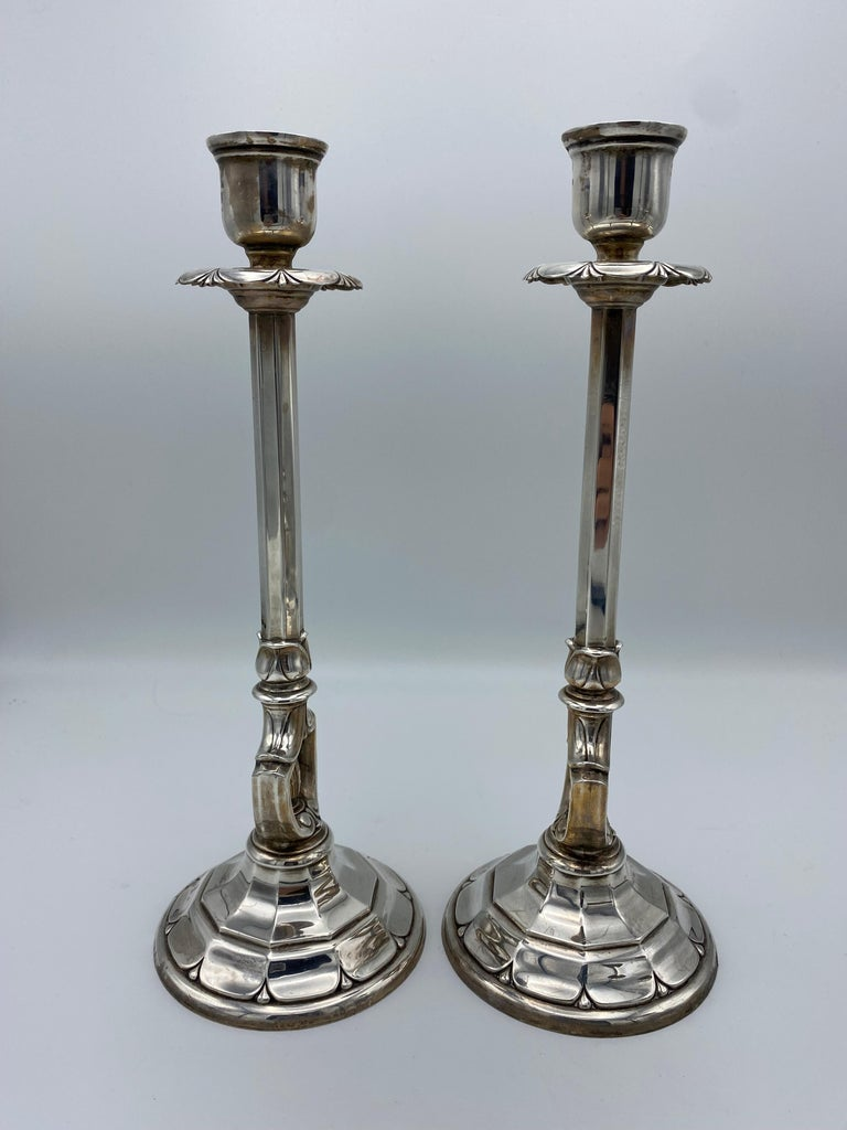 Women's or Men's Art Deco Gorham Sterling Silver Candlesticks, Set of 4 For Sale
