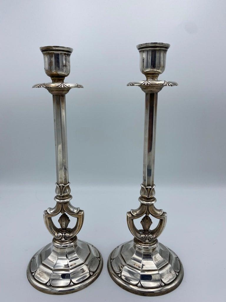 Art Deco Gorham Sterling Silver Candlesticks, Set of 4 For Sale 1