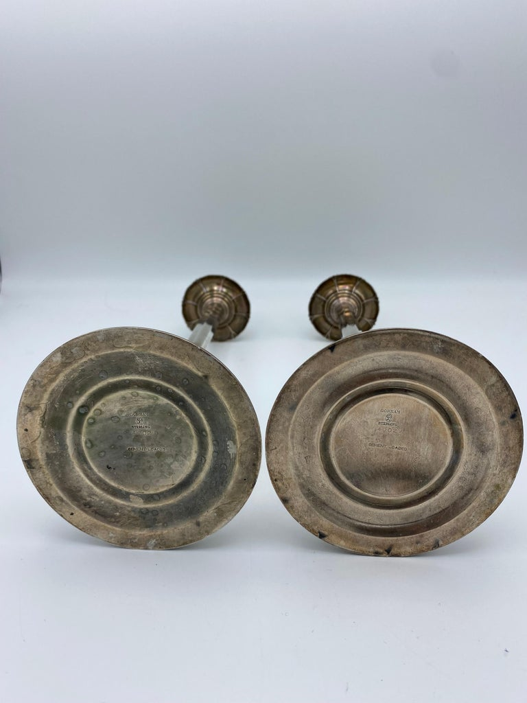 Art Deco Gorham Sterling Silver Candlesticks, Set of 4 For Sale 3