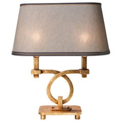 Art Deco Gray and Gold Table Lamp