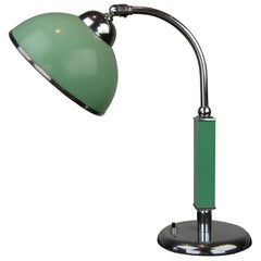 Art Deco Green Bakelite Desk Lamp Bauhaus Style, 1920s, Germany