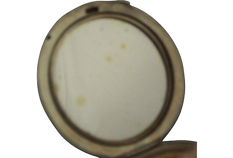 Women's or Men's Art Deco Green Enamel English Sterling Silver Compact by Turner & Simpson For Sale