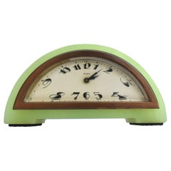 Art Deco Green Onyx 8 Day Mantle Clock, c1930