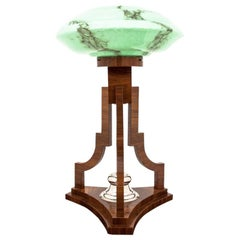 Art Deco Green Table Lamp