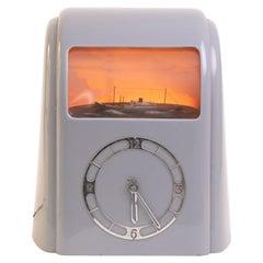 Art Deco Grey Bakelite Vitascope Clock by J.S.Thatcher, c.1941